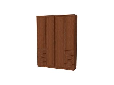 Шкаф для белья с полками и ящиками артикул 112 дуб
