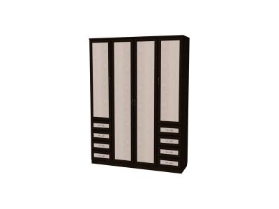 Шкаф для белья с полками и ящиками артикул 112 венге