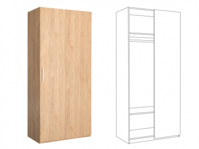 Шкаф для одежды 10.75 Гравити
