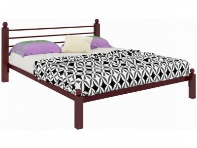 Кровать Милана Lux коричневая