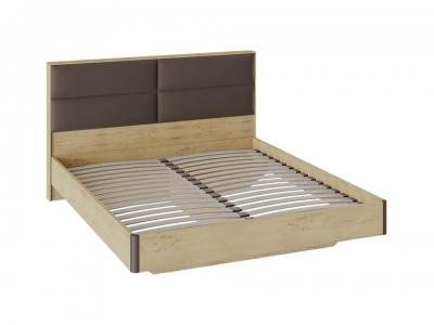 Двуспальная кровать Николь с мягким изголовьем СМ-295.01.003 Бунратти, коричневый