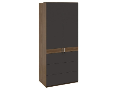 Шкаф комбинированный с 3 ящиками Харрис ТД-302.07.06 Дуб американский, Серебряный гранит