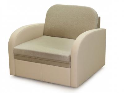 Диван-кровать Кадет М08 3 вариант Бежевый велюр-кожзам