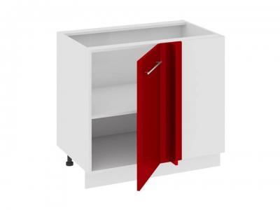 Шкаф напольный с планками для формирования угла Н_72-90_1ДРпУ Ассорти Вишня