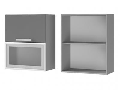 Шкаф настенный с дверями горизонтальными 600х720х310 6В3 БТС МДФ