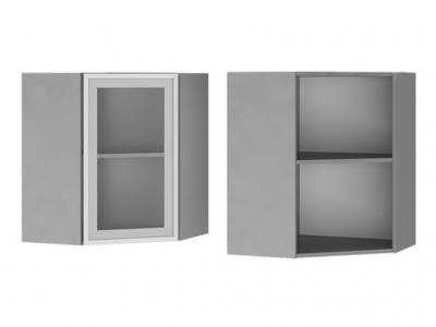 Шкаф настенный угловой со стеклом 600х720х600 6УВ2 БТС МДФ