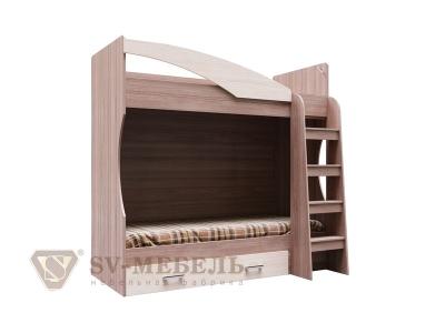 Кровать двухъярусная с ящиком Город