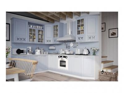 Угловая кухня Скай Голубая