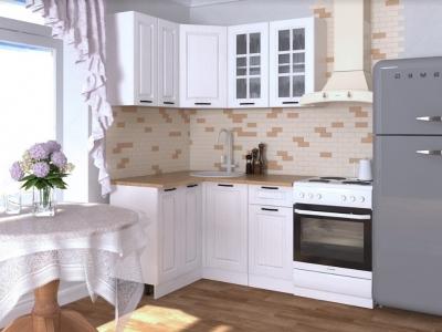 Кухонный гарнитур угловой Белый вегас 1200х1400