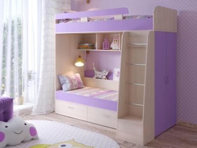 Кровать двухъярусная Юниор 6 дуб-ирис